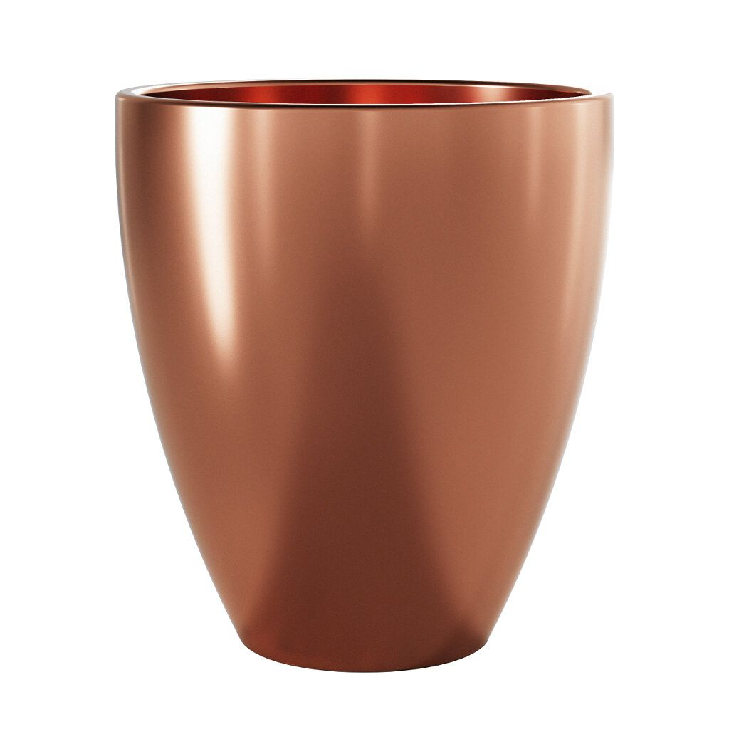 Vaso de Cerâmica Frankfurt 15,5cm x 14cm cor Bronze