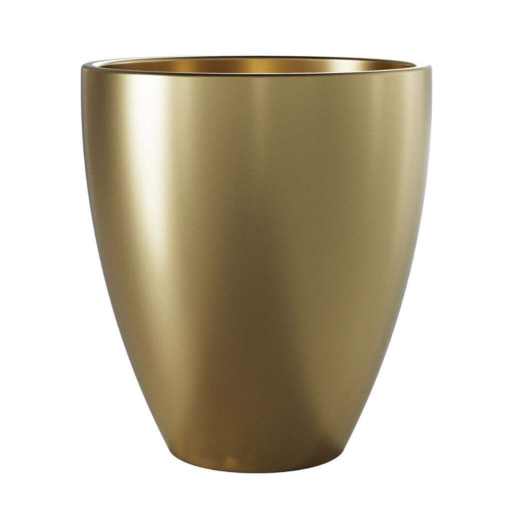 Vaso de Cerâmica Frankfurt 15,5cm x 14cm cor Ouro
