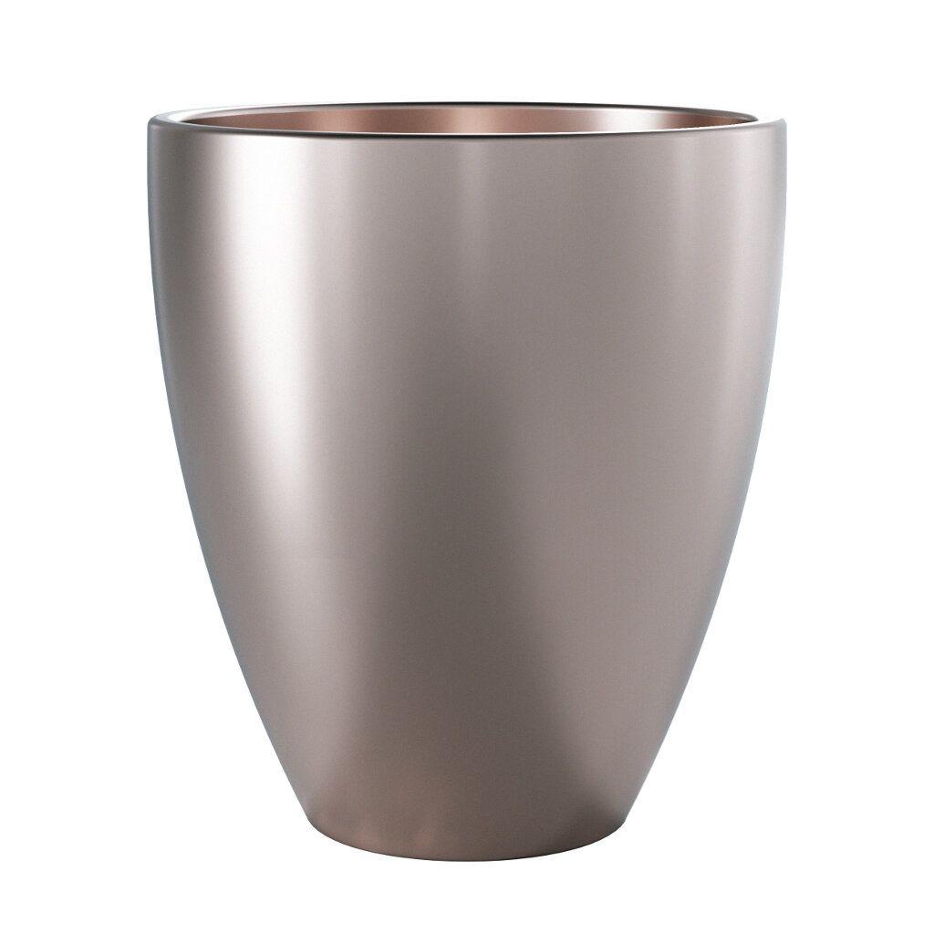 Vaso de Cerâmica Frankfurt 15,5cm x 14cm cor Paládio