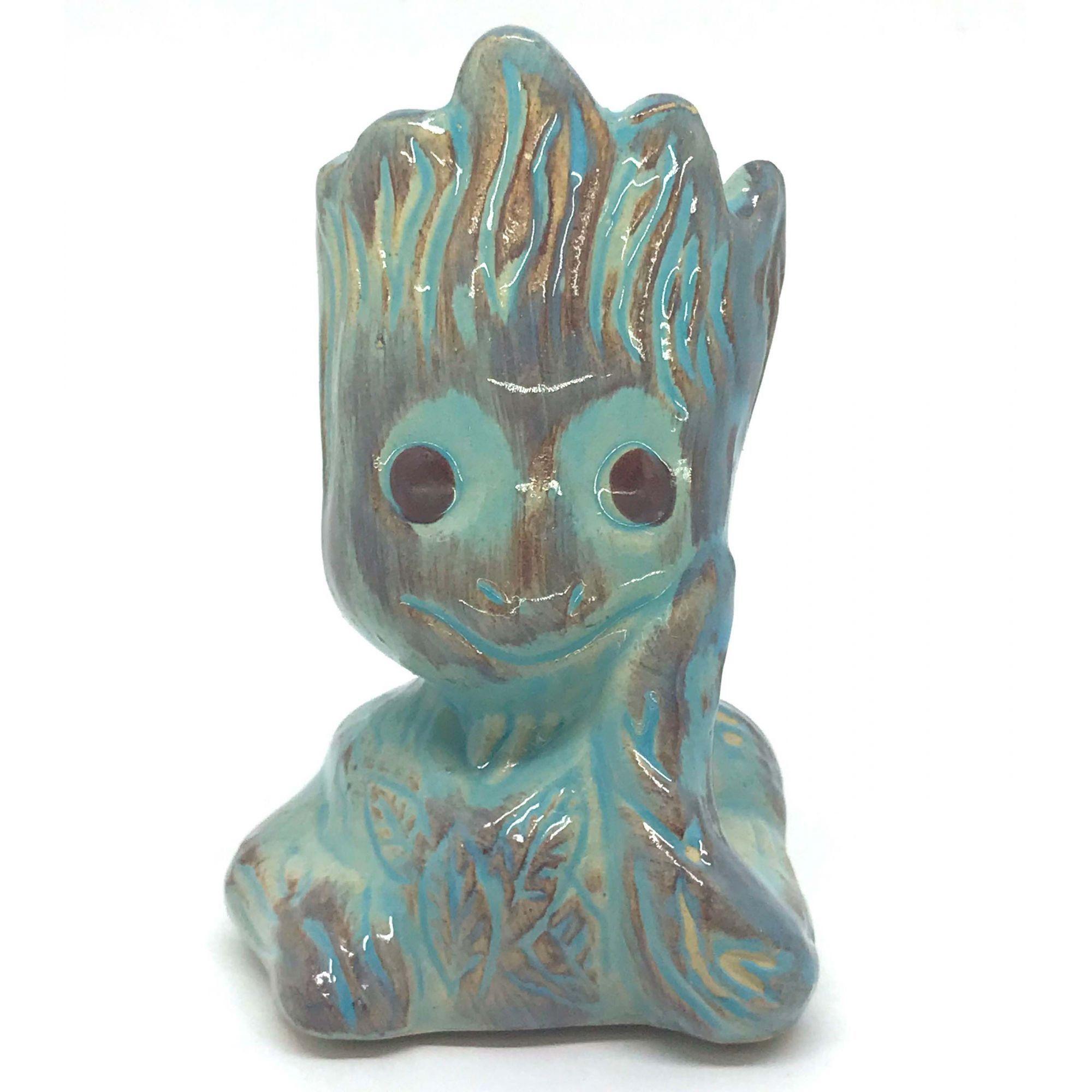 Vaso de Cerâmica Groot Azul 12cm x 5,5cm