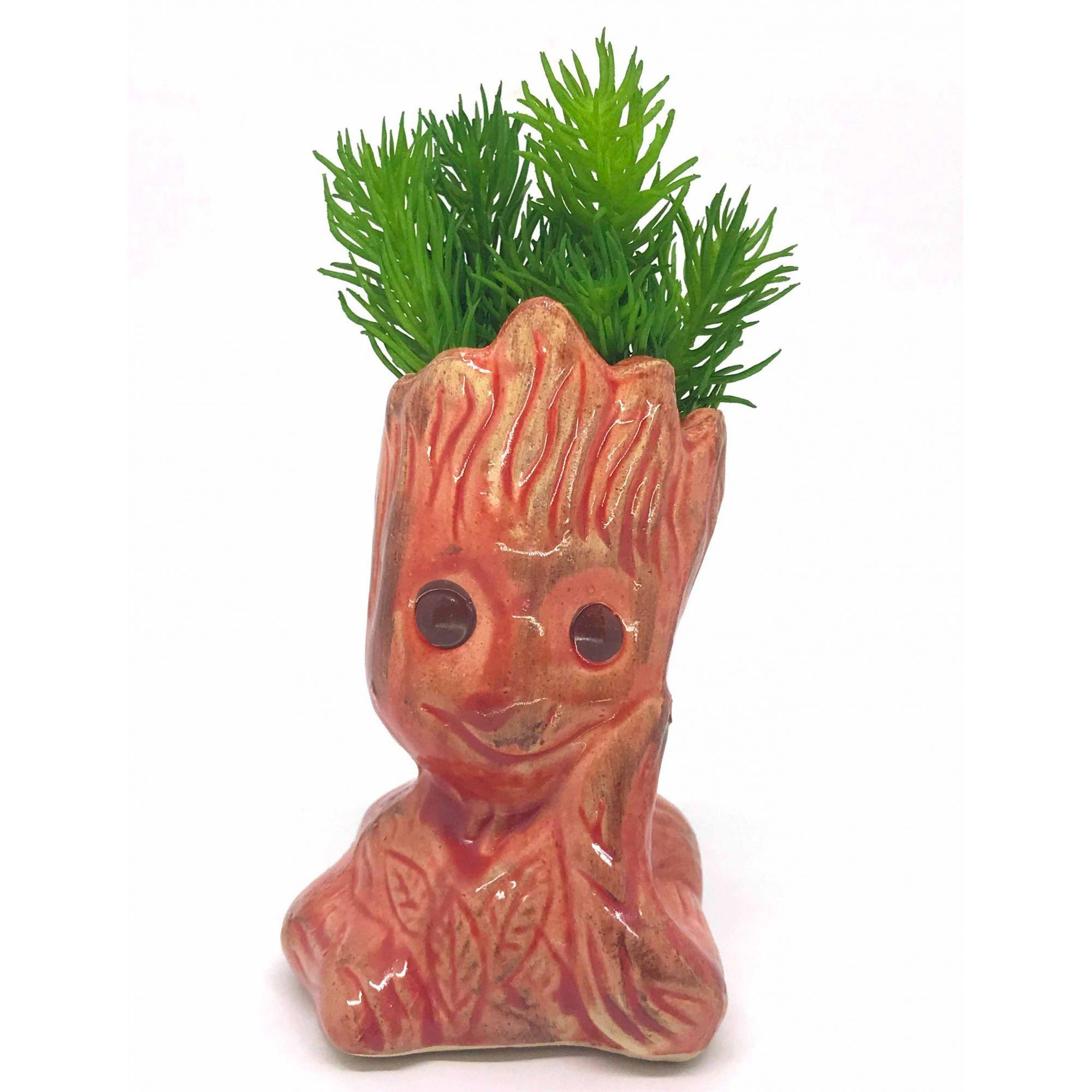 Vaso de Cerâmica Groot Salmão 12cm x 5,5cm