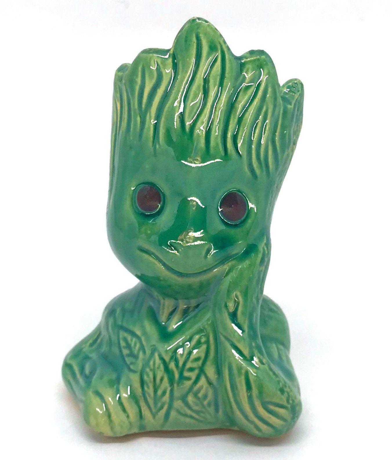Vaso de Cerâmica Groot Verde 12cm x 5,5cm