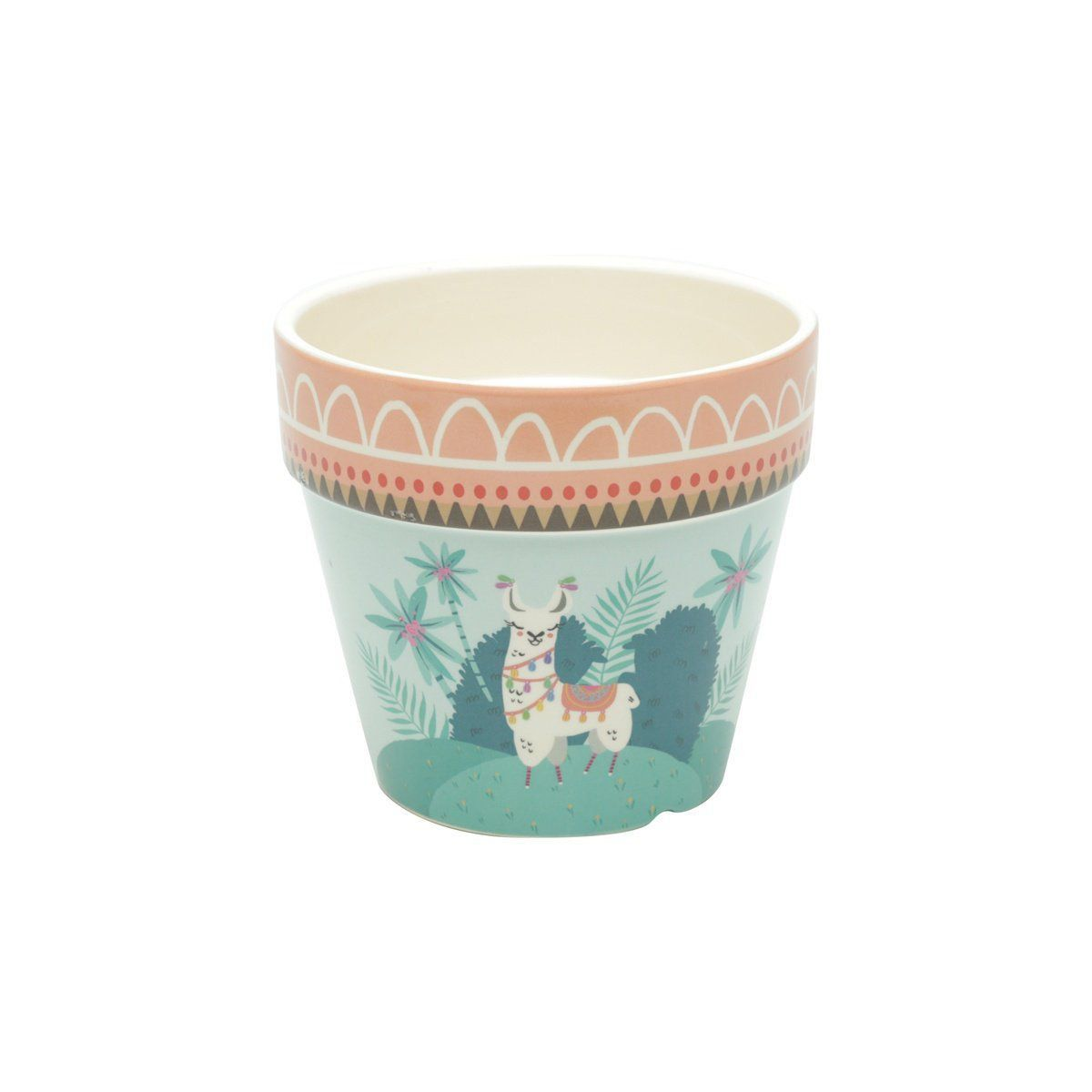 Vaso de Cerâmica Lhama Mexicano Colorido 12,5cm x 14cm - 42062