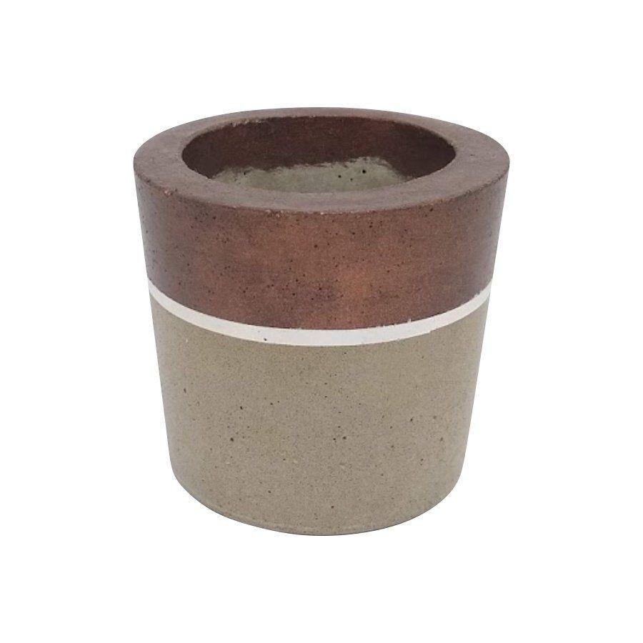 Vaso de cimento 8cm x 8,5cm MD18B2B
