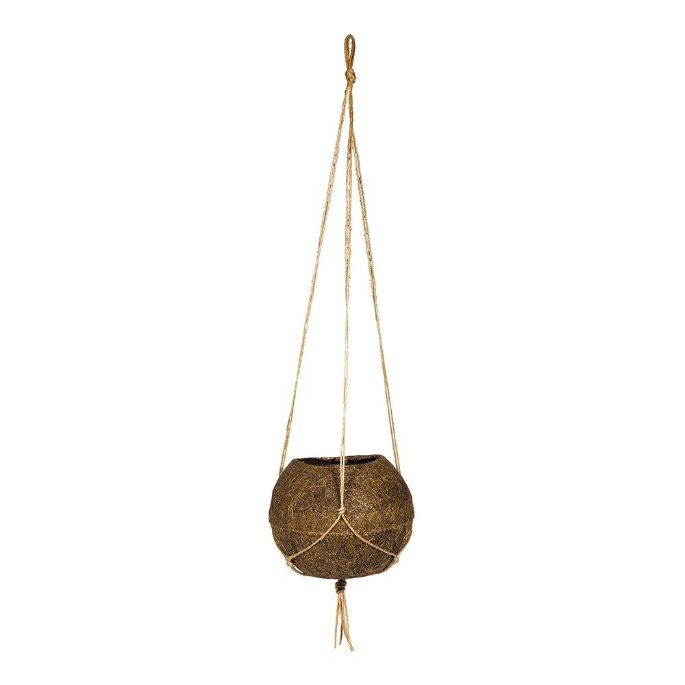Vaso de Fibra de Coco Koquimdama com Alça para Pendurar 12cm x 13cm Coquim