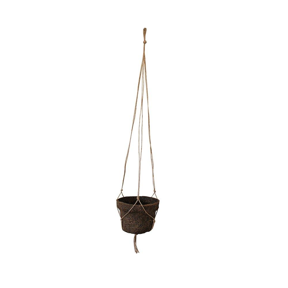 Vaso de Fibra de Coco Nº 05 com Alça para Pendurar 9cm x 12cm COQUIM
