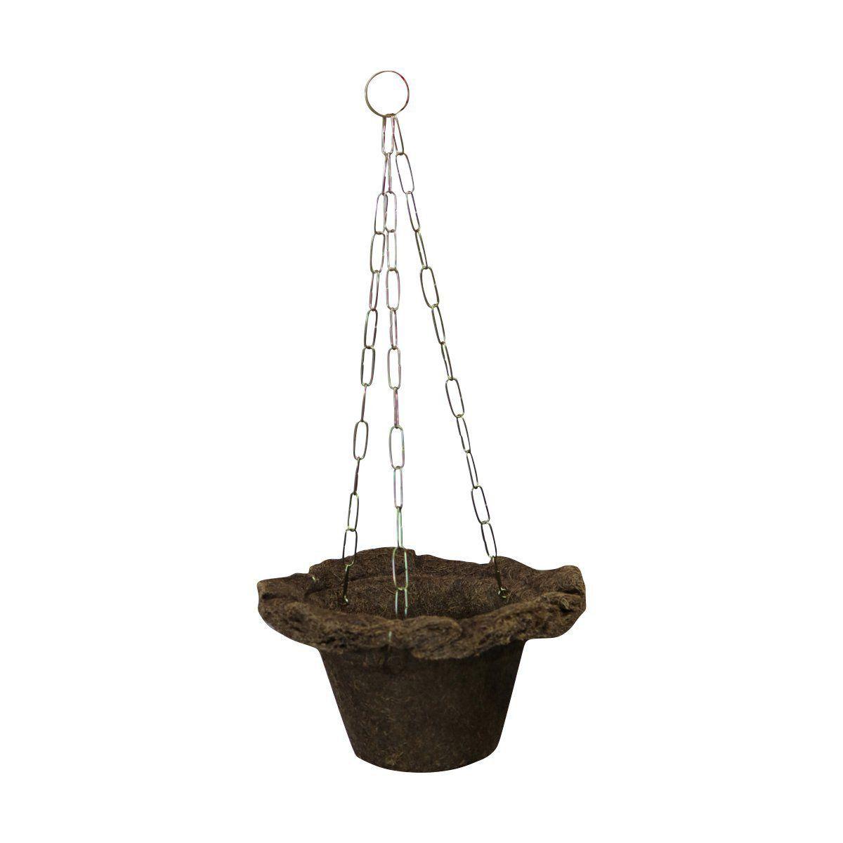 Vaso de Fibra de Coco Virola Nº 12 com corrente - COQUIM