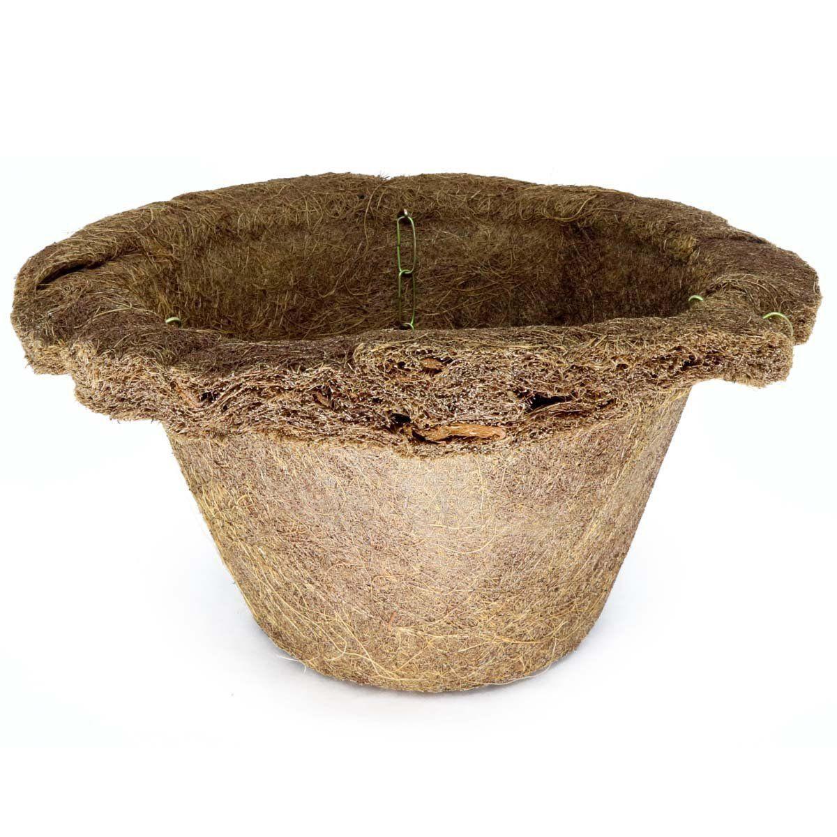 Vaso de Fibra de Coco Virola Nº 14 com corrente - COQUIM