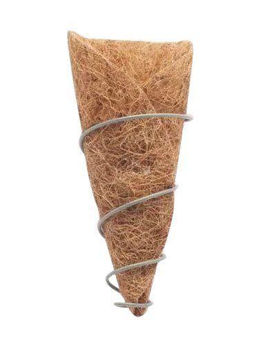 Vaso de parede de fibra de coco para Orquídeas com suporte de ferro COQUIM