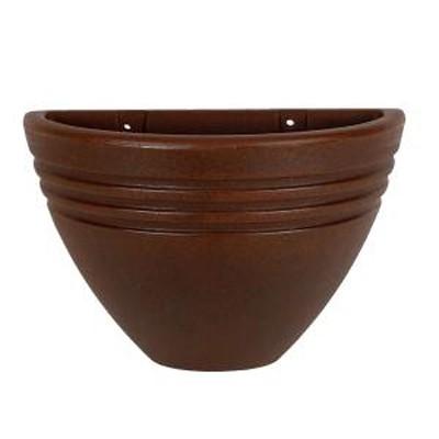 Vaso de Parede Jateado Vogue cor Ferrugem 19,5cm x 30cm - VPP1-FE