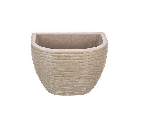 Vaso de Parede Sisal Bege 17cm x 21cm  Stone Effect