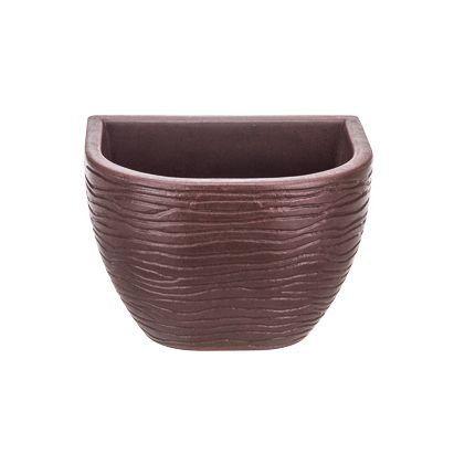 Vaso de Parede Sisal Marrom 17cm x 21cm Stone Effect