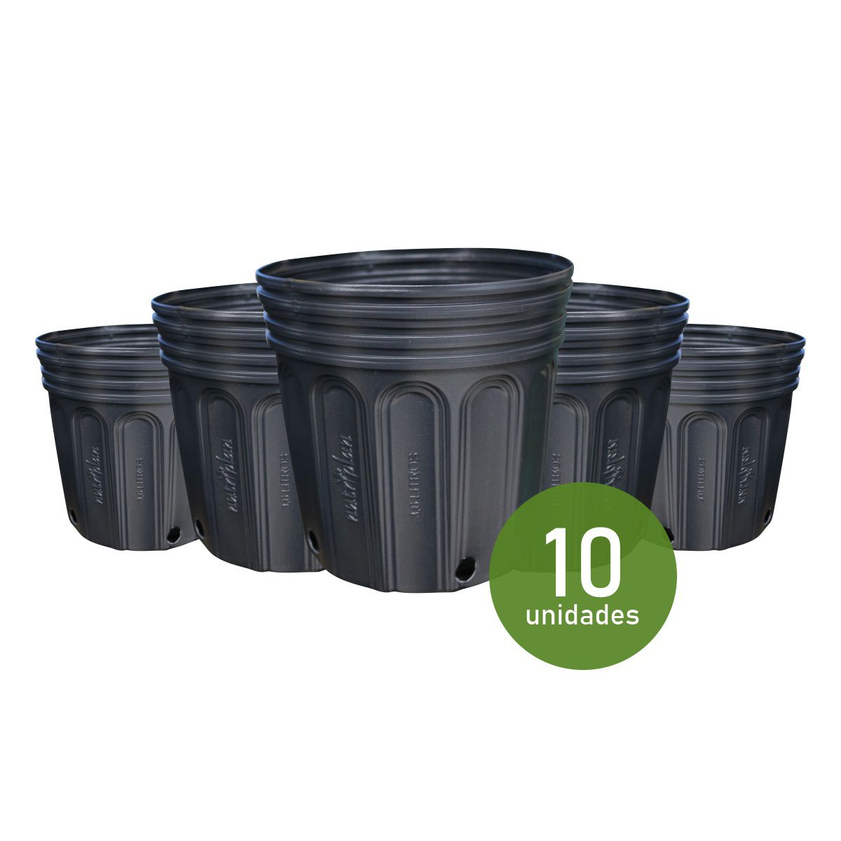 Vaso (embalagem) para muda Kit com 10 potes de 3,6 Litros