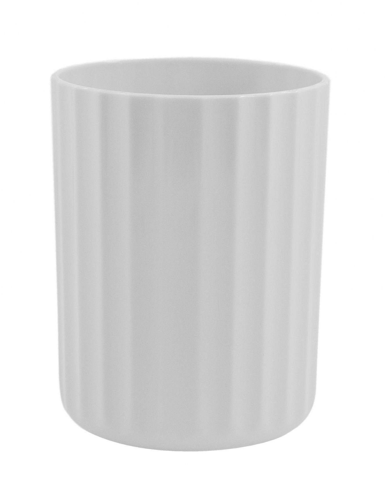 Vaso Groove Pequeno Branco Fechado Linha Plantar < Ou >