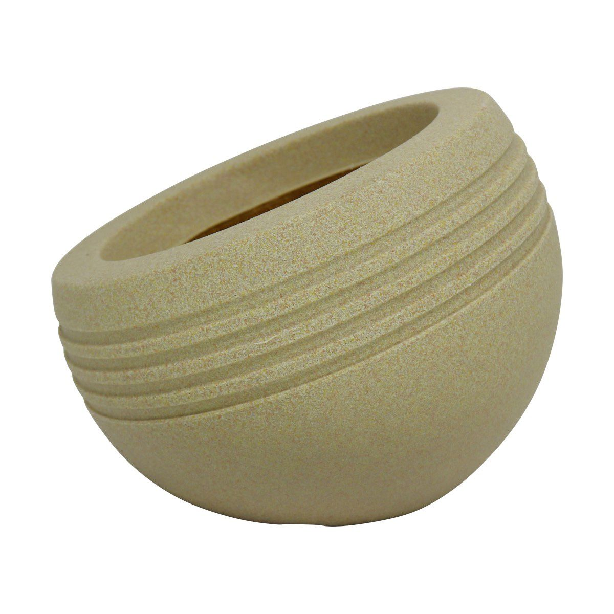 Vaso Inclinato Mini Vogue cor Areia 20cm x 23,5cm - VIPM