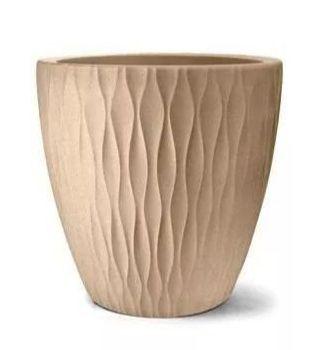 Vaso Infinity Redondo 50 cm x 34 cm Areia