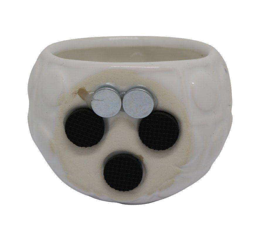 Vaso Magnético Bola Branco 6,5 cm x 6,5 cm