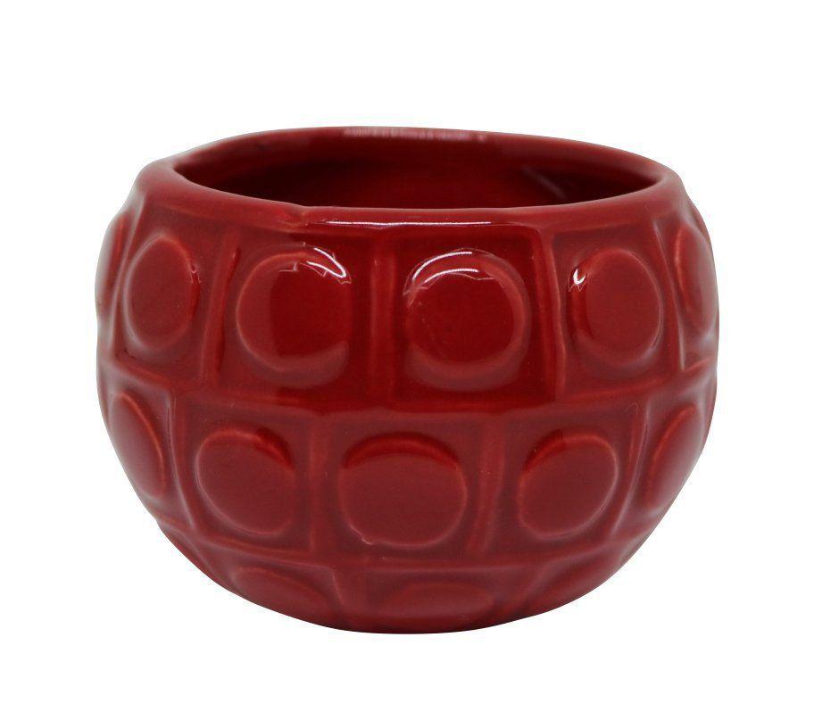 Vaso Magnético Bola Vermelho 6,5 cm x 6,5 cm