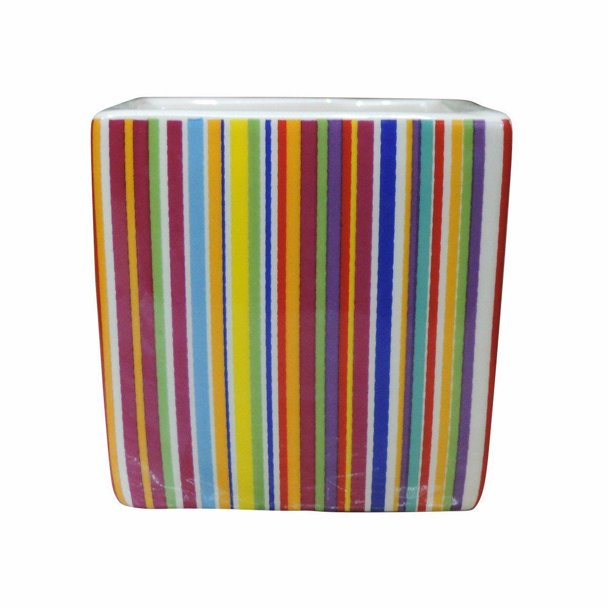 Vaso Magnético Cubo Art Deco 7cm x 7 cm