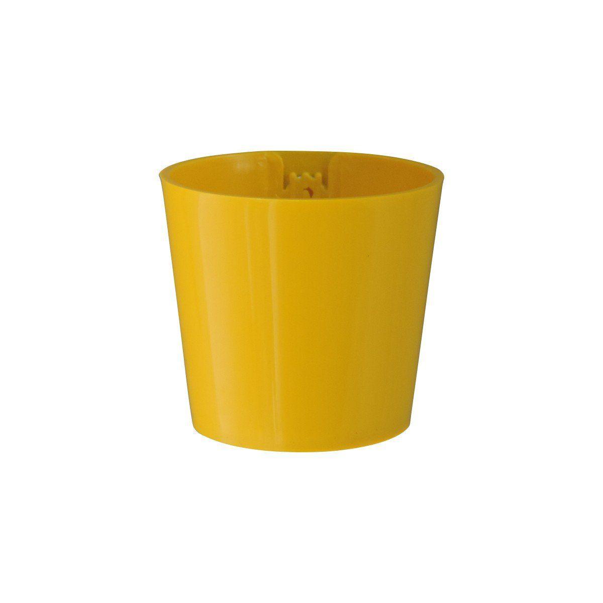 Vaso Magnético de Plástico Amarelo 5cm x 6cm