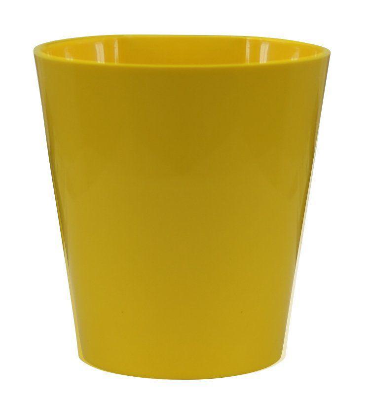 Vaso Magnético de Plástico Amarelo 7,5cm x 7cm Alto