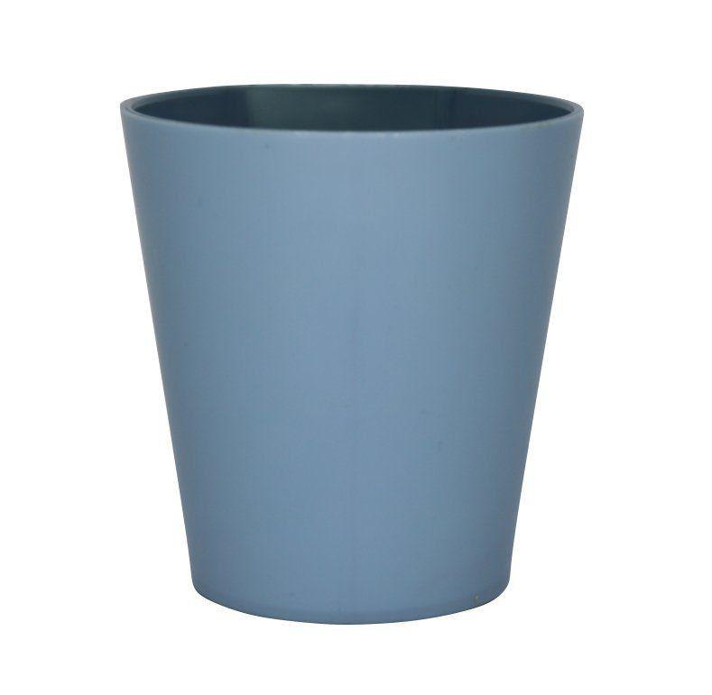 Vaso Magnético de Plástico Azul Bebê 7,5cm x 7cm Alto