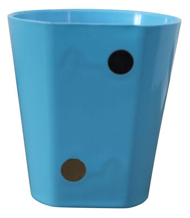 Vaso Magnético de Plástico Azul Claro 7,5cm x 7cm Alto