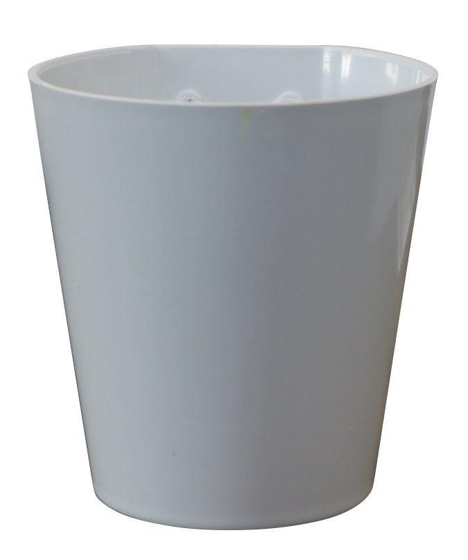 Vaso Magnético de Plástico Branco 7,5cm x 7cm Alto