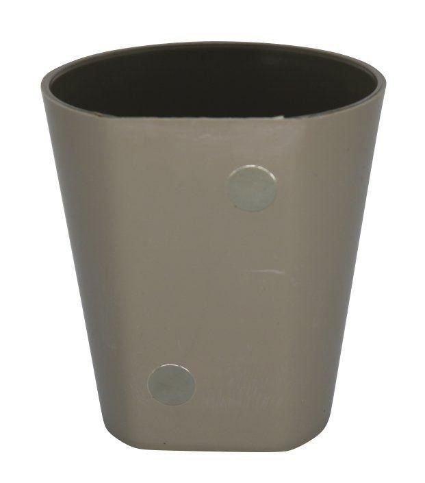 Vaso Magnético de Plástico Marrom Claro 7,5cm x 7cm Alto