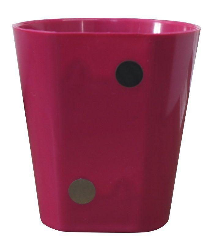 Vaso Magnético de Plástico Pink 7,5cm x 7cm Alto