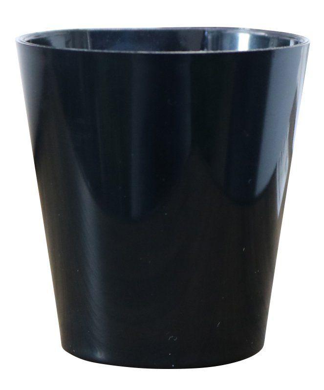 Vaso Magnético de Plástico Preto 7,5cm x 7cm Alto