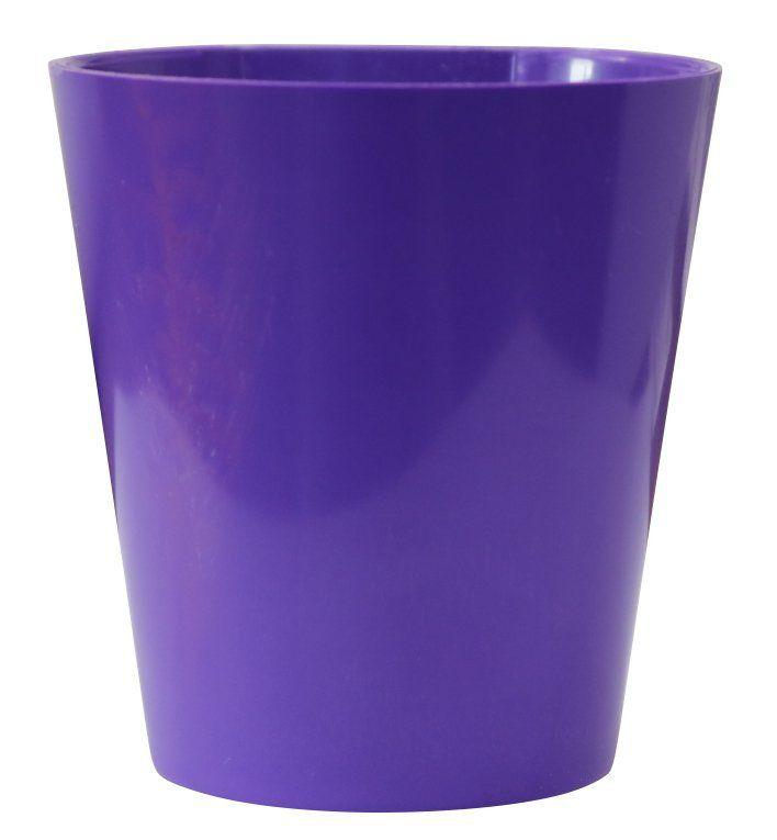 Vaso Magnético de Plástico Roxo 7,5cm x 7cm Alto