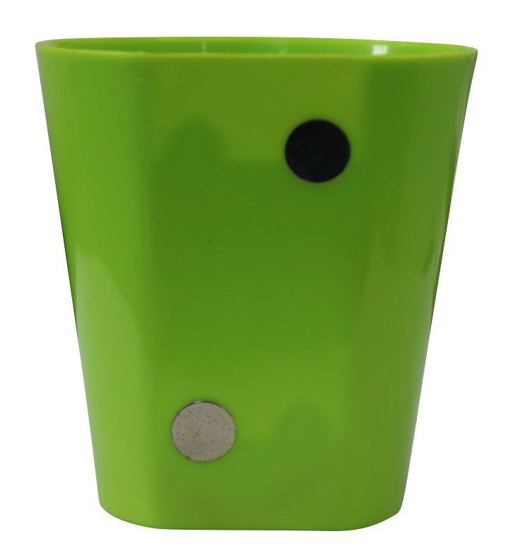 Vaso Magnético de Plástico Verde Claro 7,5cm x 7cm Alto