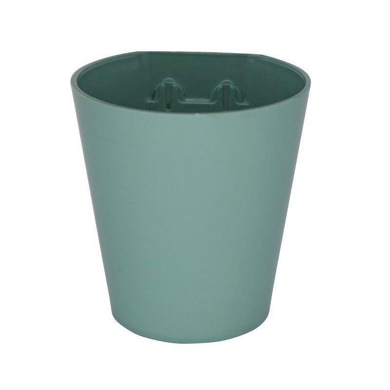 Vaso Magnético de Plástico Verde Menta 7,5cm x 7cm Alto