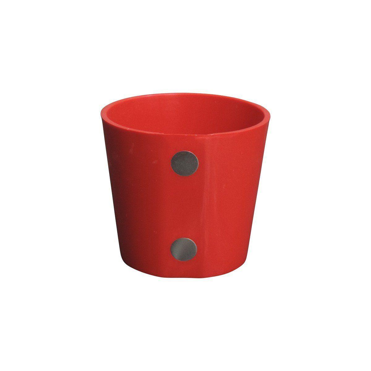 Vaso Magnético de Plástico Vermelho 5cm x 6cm