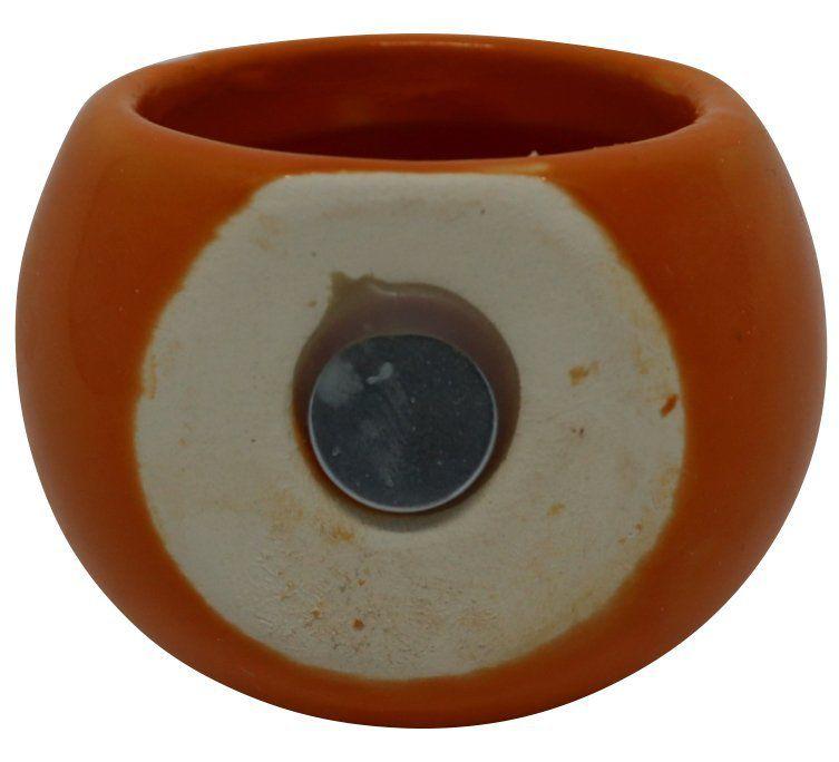 Vaso Magnético Mini Laranja 4,5cm x 4,5cm