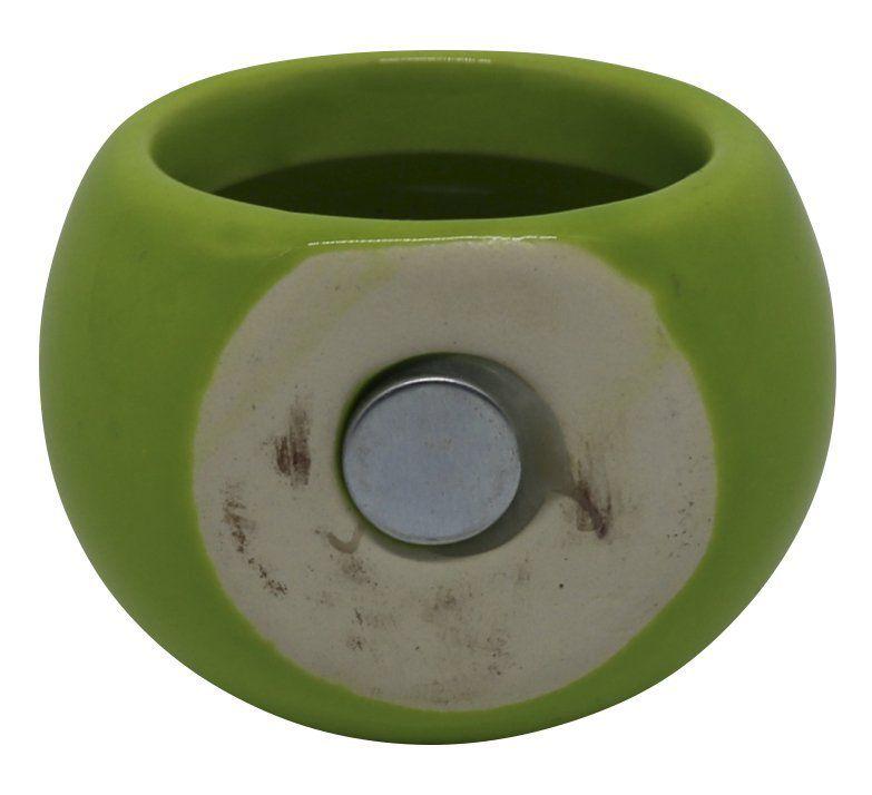 Vaso Magnético Mini Verde Limão 4,5cm x 4,5cm