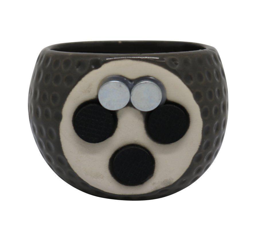 Vaso Magnético Poá Cinza 6,5 cm x 6,5 cm