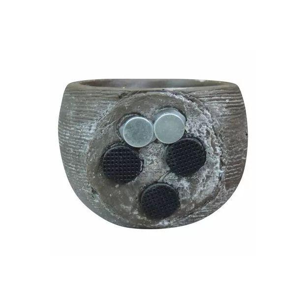 Vaso Magnético Rústico Marrom 6,5cm x 6,5cm