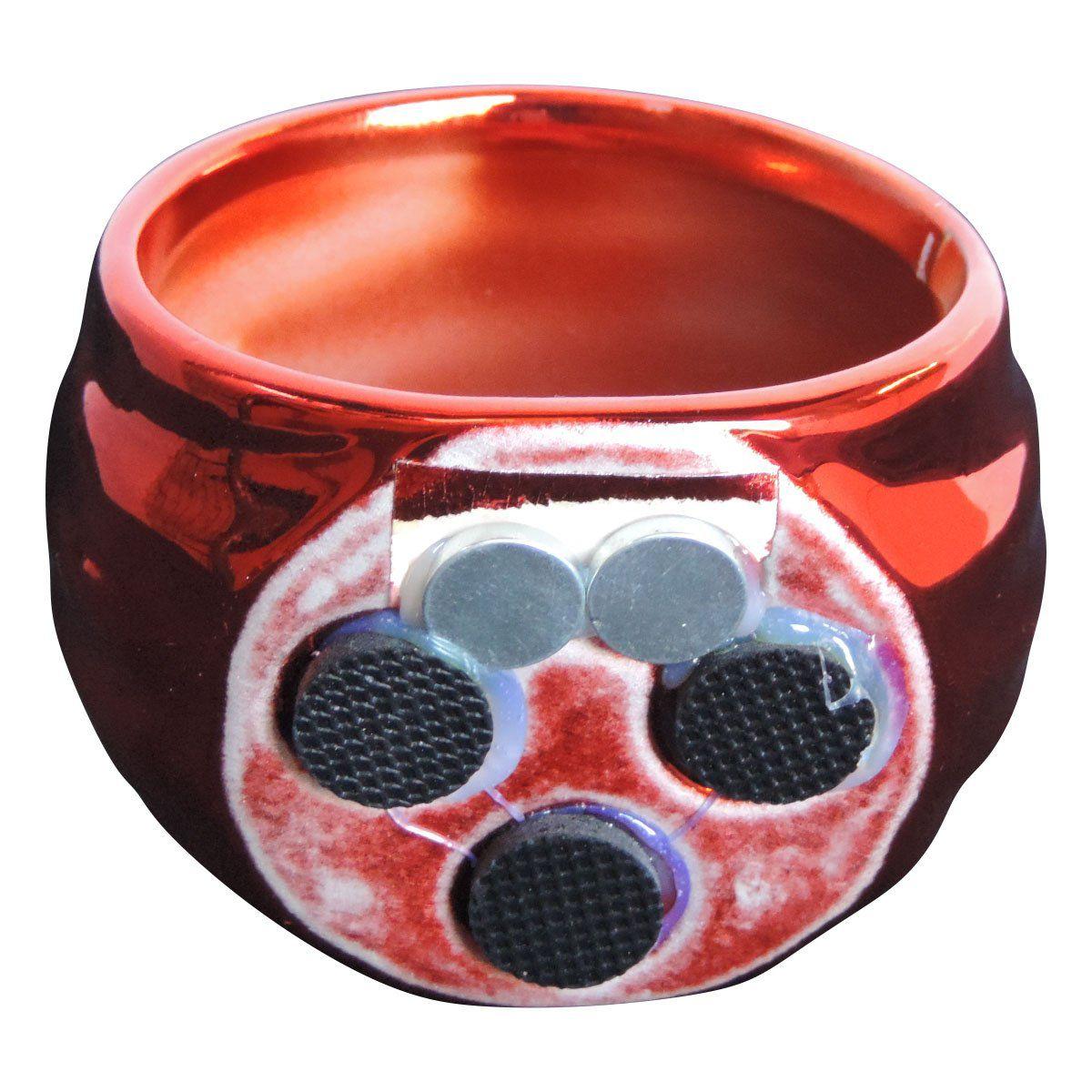 Vaso Magnético Vitrificado Vermelho 6,5cm x 6,5cm