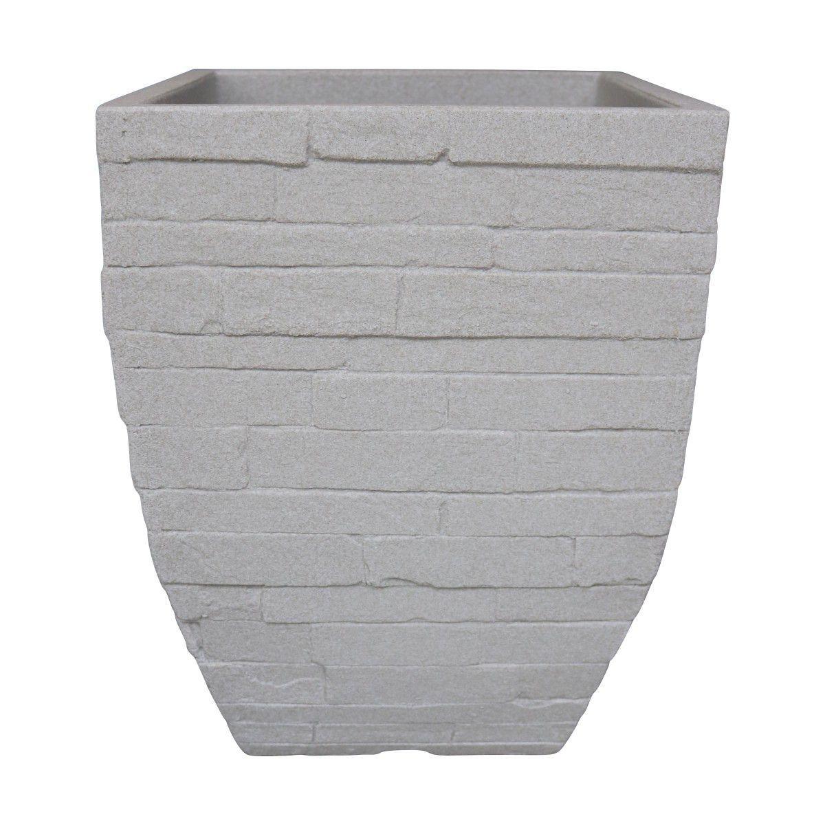 Vaso Minas Stone cor Cimento 43cm x 32,5cm