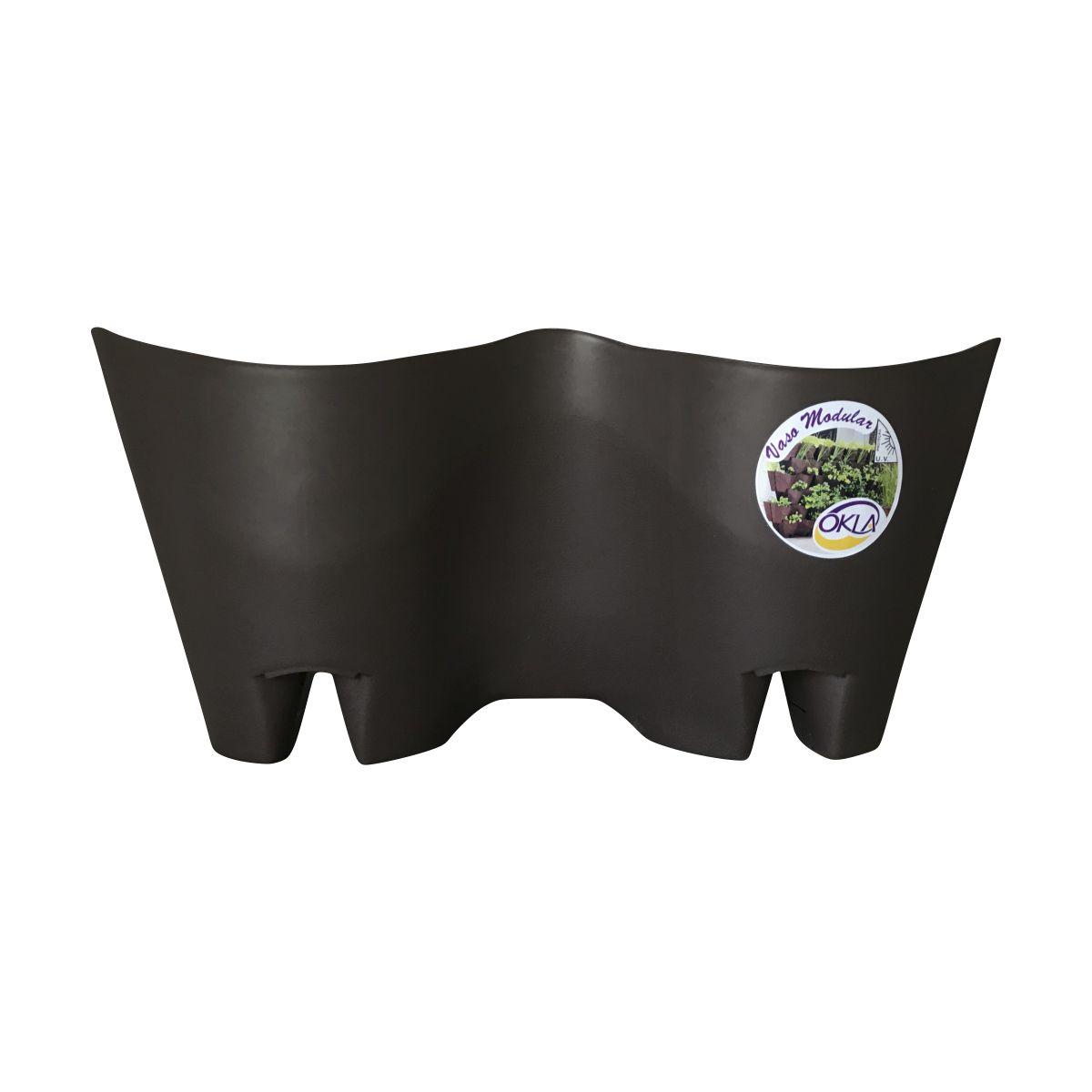 Vaso Modular de Parede Tabaco 19cm x 41cm