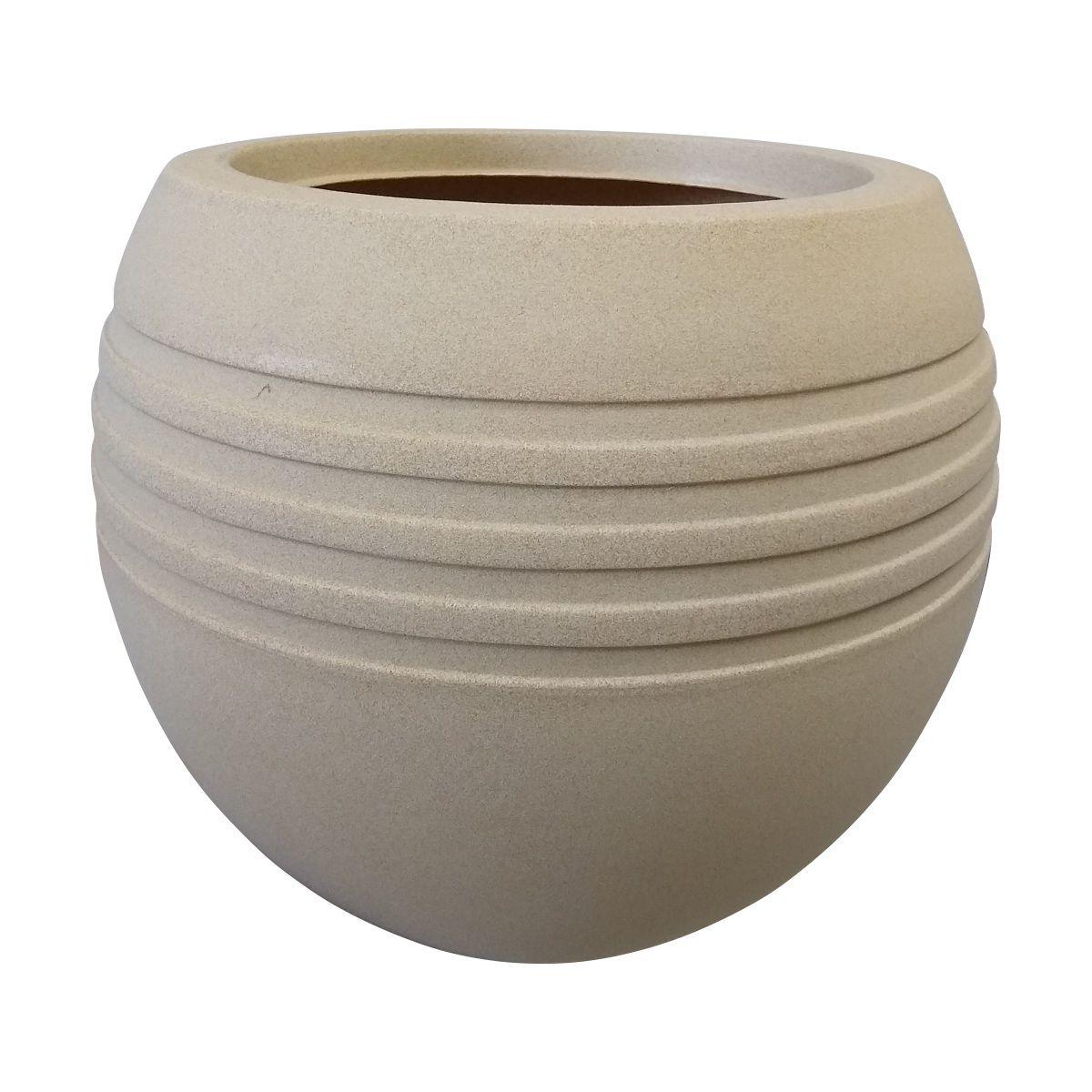 Vaso Oval Jateado Vogue cor Areia 35cm x 30cm - OVP1-AR