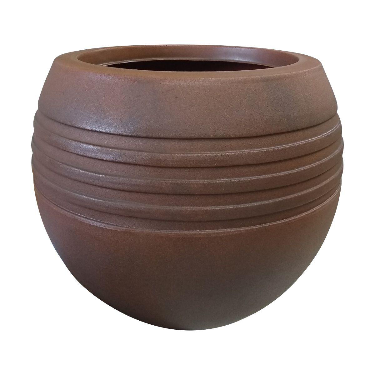 Vaso Oval Jateado Vogue cor Ferrugem 35cm x 30cm - OVP1-FE