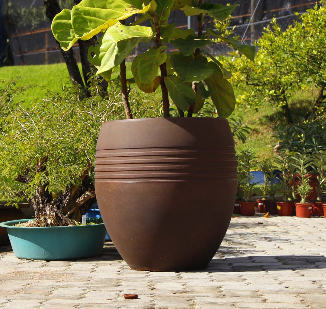 Vaso Oval Jateado Vogue cor Ferrugem 60cm x 50cm - OVP3-FE