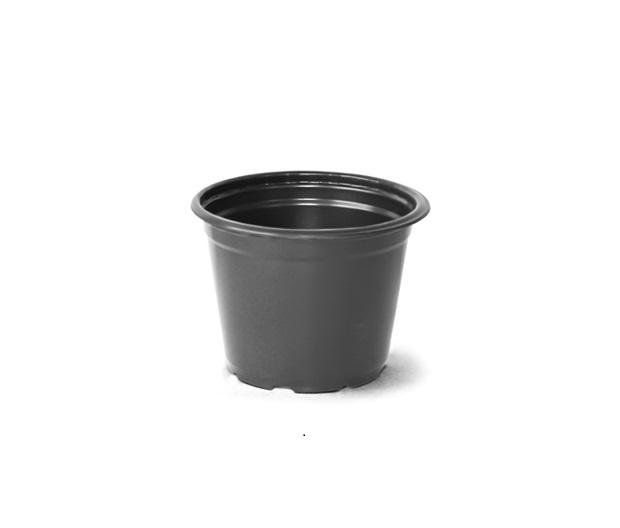 Vaso para plantas 02 Preto 10,5cm x 14cm