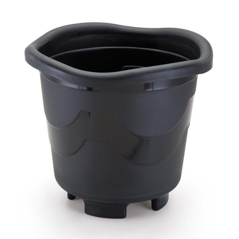 Vaso para Plantas Redondo Extra Grande Preto 40cm x 43cm