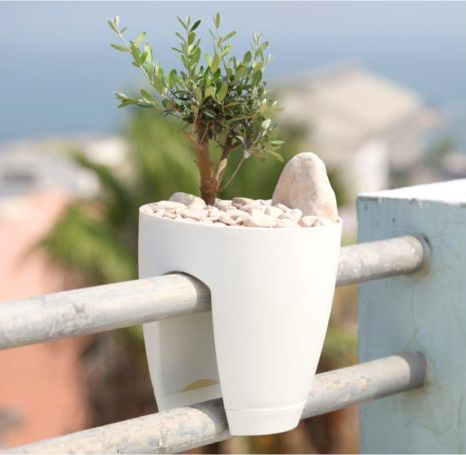 Vaso para Sacada Greenbo Planter Branco 30,5cm x 28cm
