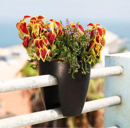 Vaso para Sacada Greenbo Planter Preto 30,5cm x 28cm