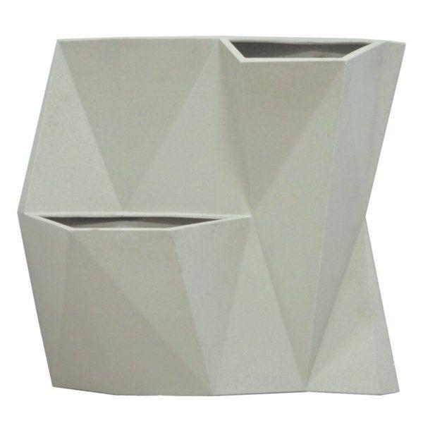 Vaso de Parede Angolo 50 Cimento